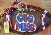 Ole Miss at Home / Home decor for Ole Miss Rebels. From red and blue design inspiration to Ole Miss wreaths and prints, we've got you covered.