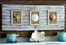 Beach Decor / A variety of beach inspired crafts and decor