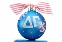 Sorority Ornaments! / These sorority ornaments are adorable!  She will love receiving one as a gift to hang on her tree to remember all the good times with her sisters:)  / by Ornament Shop
