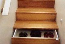 Stair Shelves & Storage Space Ideas