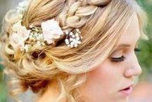 wedding | bride styling / hair & make-up / by Denise Weerke