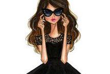 Fashion Illustrations by Anum Tariq / www.etsy.com/shop/anumt