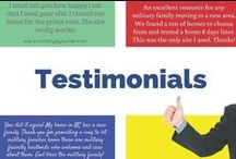 Testimonials / We love to hear about the experiences our customers have using our military home advertising website. Find out what our customers have to say about using MilitaryByOwner.com to rent or sell their military house.
