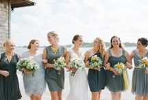 Wedding Clients // Claire & Zach / Dreamy Outdoor Yellow & Grey Waterfront Wedding