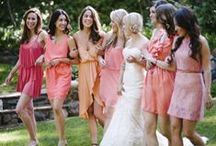 Bridemaid Dresses / To my beautiful bridesmaids,  I hope these pictures help you visualize what I'm thinking for your dresses.   Any shade of pink, rose, peach, etc. Above the knee, Preferable chiffon or flowy fabric,  You all have great taste so I trust you! :) Happy shopping! / by Katie Davis