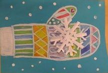 Winter in the Classroom / Collection of ideas for crafts and activities, including Christmas, Grinch Day, New Years, Winter Ideas