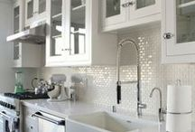 In the Kitchen / beautiful kitchens-- cabinets, sinks, layouts etc.  / by Megalina Cupcake
