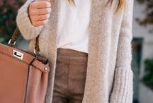 Cashmere + Cardigans / Fall fashion ideas for all things sweaters, boots, and suede