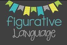 Figurative Language / Collection of teaching ideas and activities for teach figurative language: similes, metaphors, hyperbole, personification, onomatopoeia, etc