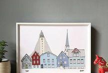 Helena Carrington Illustration / colourful illustrated city prints