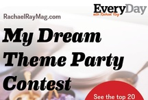 """Pin it to Win it: My Dream Theme Party Contest / If the sky's the limit, what kind of bash would you host? Pin your fantasy get-together, from the drinks to the decor, then share your board at RachaelRayMag.com/pin to enter the """"My Dream Theme Party"""" contest. You could win a $500 gift card to throw your event (plus 4 runners-up get $250 gift cards)! Get inspired by the staff's Rockin' Karaoke Party picks below!"""
