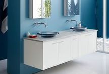 Palm Springs Bathroom / If you're a fan of mid-century modern style, with its clean lines and sleek surfaces, you're sure to fall hard for this colorful, confident space. / by Kohler Co.