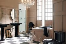 Paris-Inspired Bathroom / Whether it's a tiny pied-à-terre in the Rive Gauche or a sprawling apartment in Montparnasse, Paris interiors share a singular chic that defies definition.