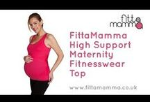 FittaMamma Supportive maternity workout clothes videos / Details of how the FittaMamma supportive maternity active wear range works - click to see more!