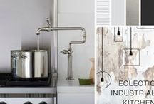 Eclectic Industrial Kitchen / Love industrial style? Smart utility combines with simple design for a contemporary urban look.   / by Kohler Co.