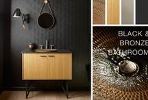 Black & Bronze Bathroom / Celebrating metals and dramatic design, this Black and Bronze bathroom showcases the intricate craftsmanship  of our newest Artist Editions pattern.   / by Kohler Co.