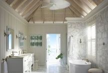 Sun Bleached Bathroom / With its tropical touches and beach-house aura, this bathroom blends luxury with the best elements of casual living. / by Kohler Co.