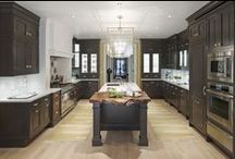 Eastside Elegance Kitchen / Wood, glass, and stone are the raw ingredients in this sophisticated cooking and entertaining space created by legendary Kitchen Designer Christopher Peacock.  / by Kohler Co.