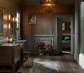 Victorian Edge Bathroom / This master bathroom has all of the charm and drama of a Victorian manor.