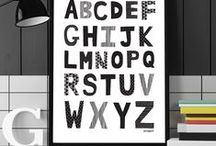 A B C / Learn the letters of the Alphabet in print, pattern and home.