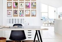 Home Office {Design} / Great office design is important to me. I work from home and the office is an extension that connects me to the outside world.