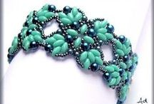 Beading - Duos, Tilas, Tiles, Twins, Etc / Beading with two hole beads of several different shapes. / by Connie Lane