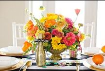 Spring Centerpieces / Centerpieces created by Local Color Flowers in March, April, & May.
