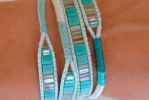 Luscious Leather / Beading and knotting using leather to make casual jewelry / by Connie Lane