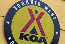 """Getaway at KOA Toronto West / We were so excited to go """"glamping"""" at one of the new deluxe cabins at Toronto West KOA - what a great experience. Read our latest blog detailing all the fun we had #VisitBurlON http://bit.ly/KOATorWest"""