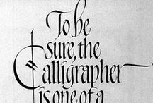 Calligraphy :: Type and Lettering / by Milena Melguiso