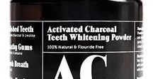 Natural Dental Care / Organic teeth cleaning and whitening products for healthy teeth and gums and fresh breath.  Made with activated charcoal powder and coconut oil and other natural ingredients.