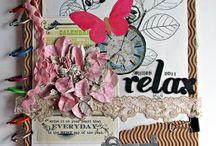 art journaling . mixed media