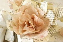 Handcrafted Flowers / So many materials to handcraft flowers from....fabric, paper, clay, plastic, yarn,...the list goes on and on to create these beautiful forms of flowers to wear and adorn and to decorate with... / by Nadine Staley