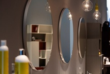 Bathroom accessories / Sometimes the hardest items to source: bathroom mirrors and lighting.
