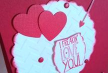 Valentines / Valentine Greetings and Paper crafts created by me.