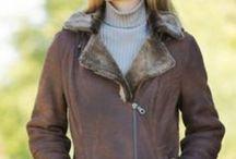 shearling jacket / by Nancy Solla
