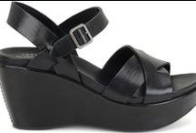 black sandals / Dressy and casual and in-between.  You need them all; they're not interchangeable!  / by Nancy Solla
