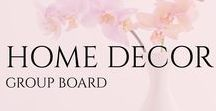home decor group board / Dream home, home building ideas, interior design, bedroom, bathroom, living room CorieClark.com Creator of Purposeful Planner #homedecor #beautifulhomes #lovelyliving #kitchendesign #beautifulspaces #bedroomideas #bathrooms Nothing for sale please.  5 pins/day, please stay on topic.