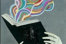 Bookish Art / Art and illustration of reading and books