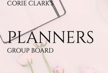 planners group board / Group board for planners, bullet journals, time management, organizing techniques.  5 pins per day/please stay on topic.  Message me for an invitation.  #planners #planning #iloveplanners #bulletjournals #bujo #timemanagement #organization #beontime #business #personal #business