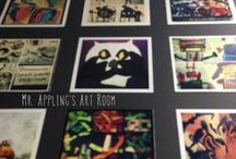 Art Room / Ideas for projects, decoration and inspiration for the art room - the best room in the school!