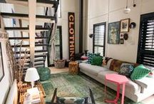 HappyHomes: Living Spaces / Inspiration to utilize for my own home making - My favorite styles are eclectic, bohemian, shabby, vintage, retro, mid-century, cottage, and maybe some country and hippie thrown in there too ;) / by Summer Rose