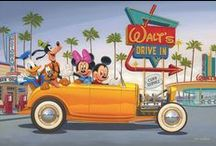 """Manuel Hernandez latest art collection... / Featuring new releases from our beloved Manuel """"Manny"""" Hernandez who deftly and precisely brings to life our favorite Disney characters.  Each of these editions is hand embellished, and note that we have a very small deluxe edition of 30 on Walt's Drive In in addition to a petite and regular edition."""