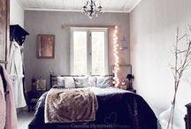 HappyHome: Bedroom + Closet / Eclectic, vintage, serene, clean, simple.