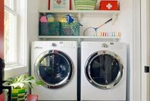 HappyHome: Laundry/Wash rooms / Inspiration for Laundry room, Wash room, Mud room, walk through.