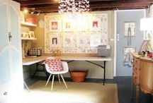 HappyHome: Sewing+Craft+Office Spaces / Design Ideas for hobby/work spaces in the home.