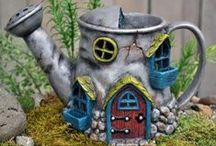 Fairy Garden | Houses & Cottages / Fairy gardens need fairy garden houses. And just like with people houses, in the world of fairy garden houses and cottages there is a full range of architectural styles to choose from. You'll need to think about your fairy's personality and garden's style to determine which fairy house would be best. Some fairies enjoy living in mushroom houses, gourd cottages, and other homes made from items found in her surroundings. Others prefer log fairy garden houses and a more traditional look.