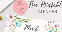 Printable Planner / Pretty printable planner in order to stay organized in your life and business. Weekly, daily, monthly planners, checklists, trackers, organizers in stylish design
