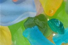 Seaglass / Seaglass is the perfect color for beach house decor.