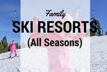 Family Ski Resorts in All Seasons / Ski and snowboarding destinations in all seasons: what to do in #ski resorts in winter and summer. Ski resort reviews from Pit Stops for Kids and around the web. #skiing #skiresorts